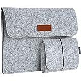 dodocool 13.3 pouces Housse de Protection d'Ordinateur Sacoche Manche Portable en feutre avec Petite Poche pour Apple 13 Pouces MacBook Air/13 Pouces MacBook Pro Gris