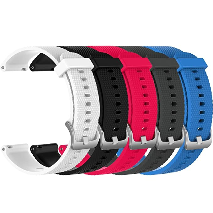 5X Small 20mm Replacement Silicone Bands for Amazfit Bip Smartwatch, 5A