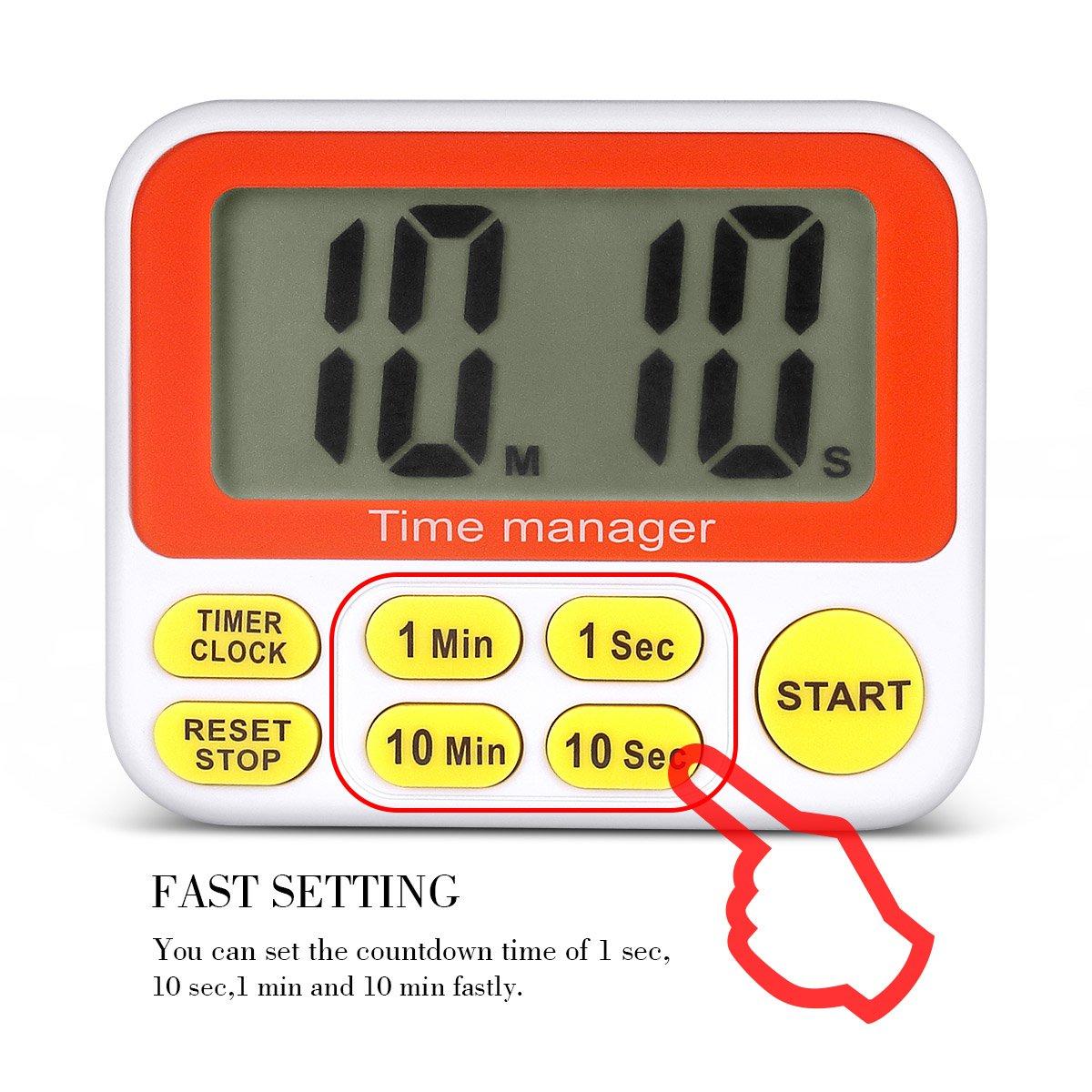 timer set 10 min amazon com digital countdown kitchen timer aimilar count down timer set 10 min