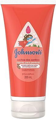 Creme para Pentear Infantil Johnson's Baby Cachos dos Sonhos 200ml