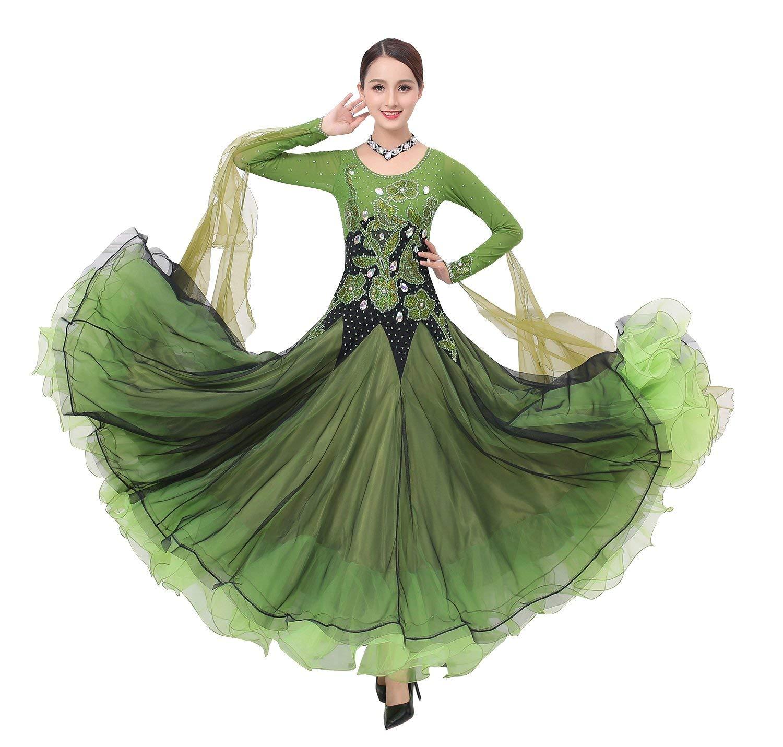 お気に入りの garuda 社交ダンス衣装 サイズオーダー レディース ダンス高級ドレス 競技ワンピース 競技ワンピース しっかり作り サイズオーダー B07PGHRQW1 B07PGHRQW1 グリーン,Large, 淡路米田畑:c49043e1 --- a0267596.xsph.ru
