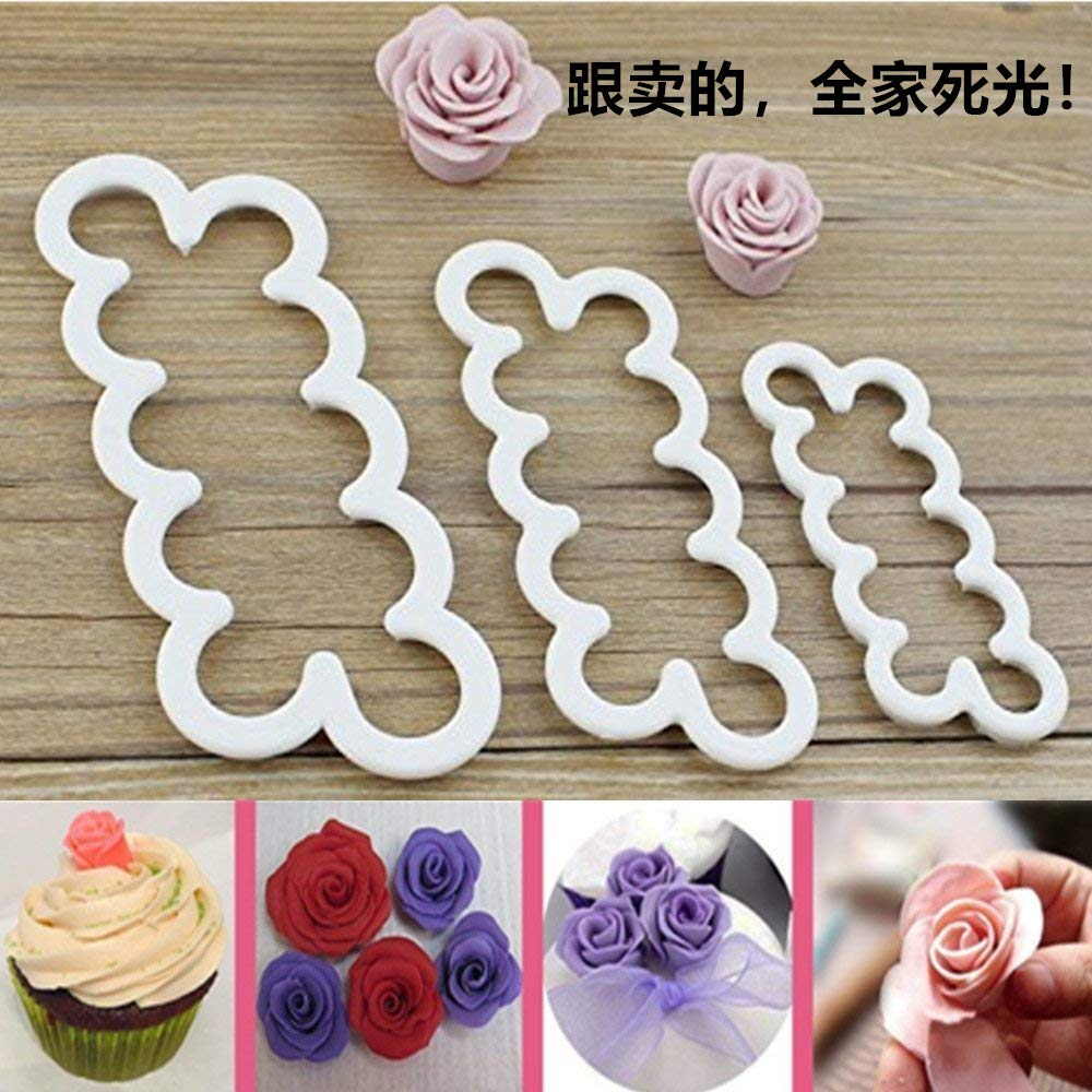 Cake Decorating Gumpaste Flowers The Easiest Rose Ever Cutter Cookie Cutters, Set of 3