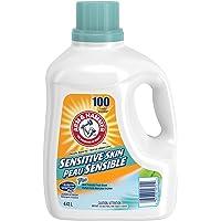 ARM & HAMMER Liquid Laundry Detergent for Sensitive Skin, HE & Standard Machines, 100 Loads, 4.43-L