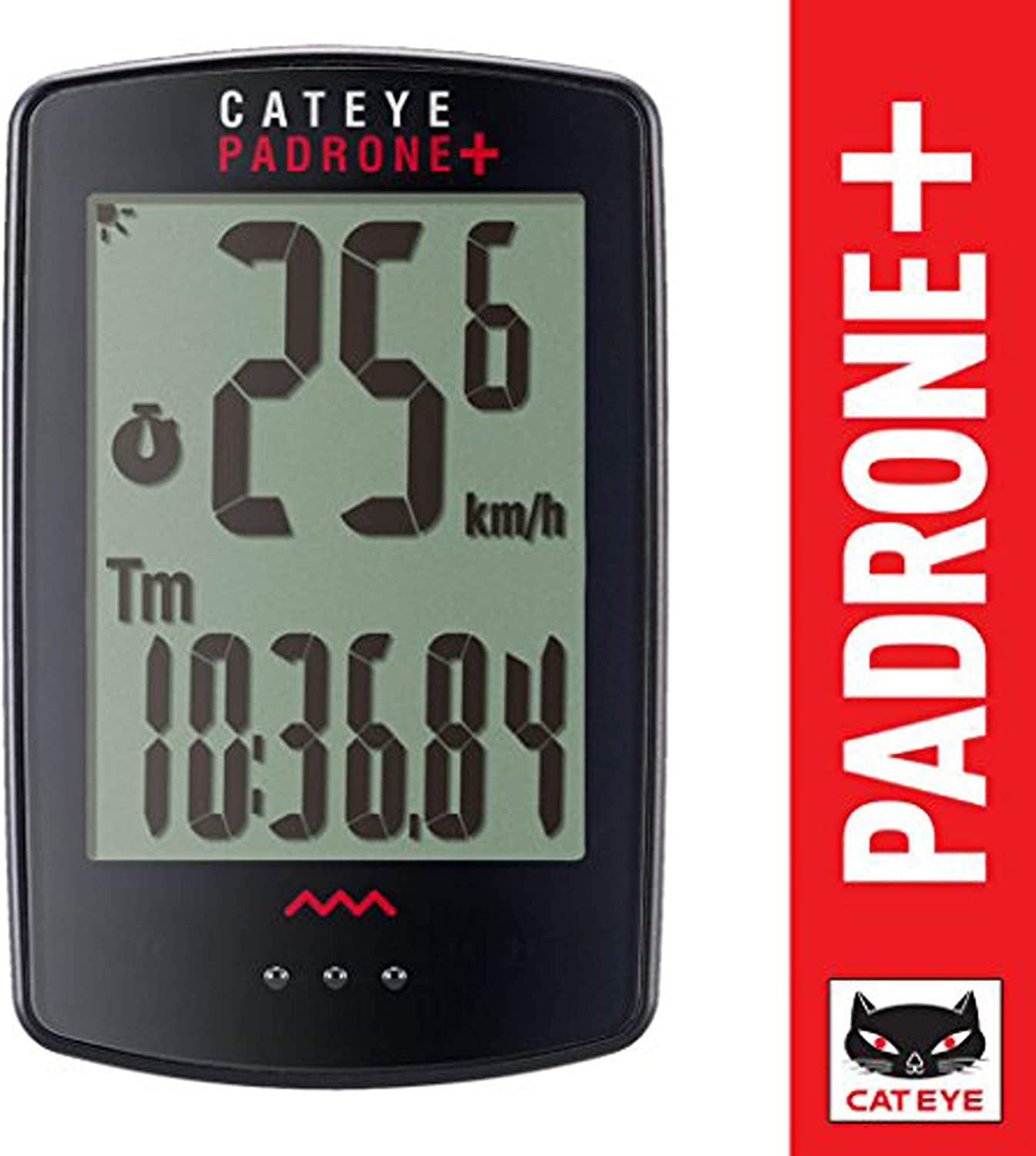 CAT EYE – Padrone Plus Wireless Bike Computer, Black