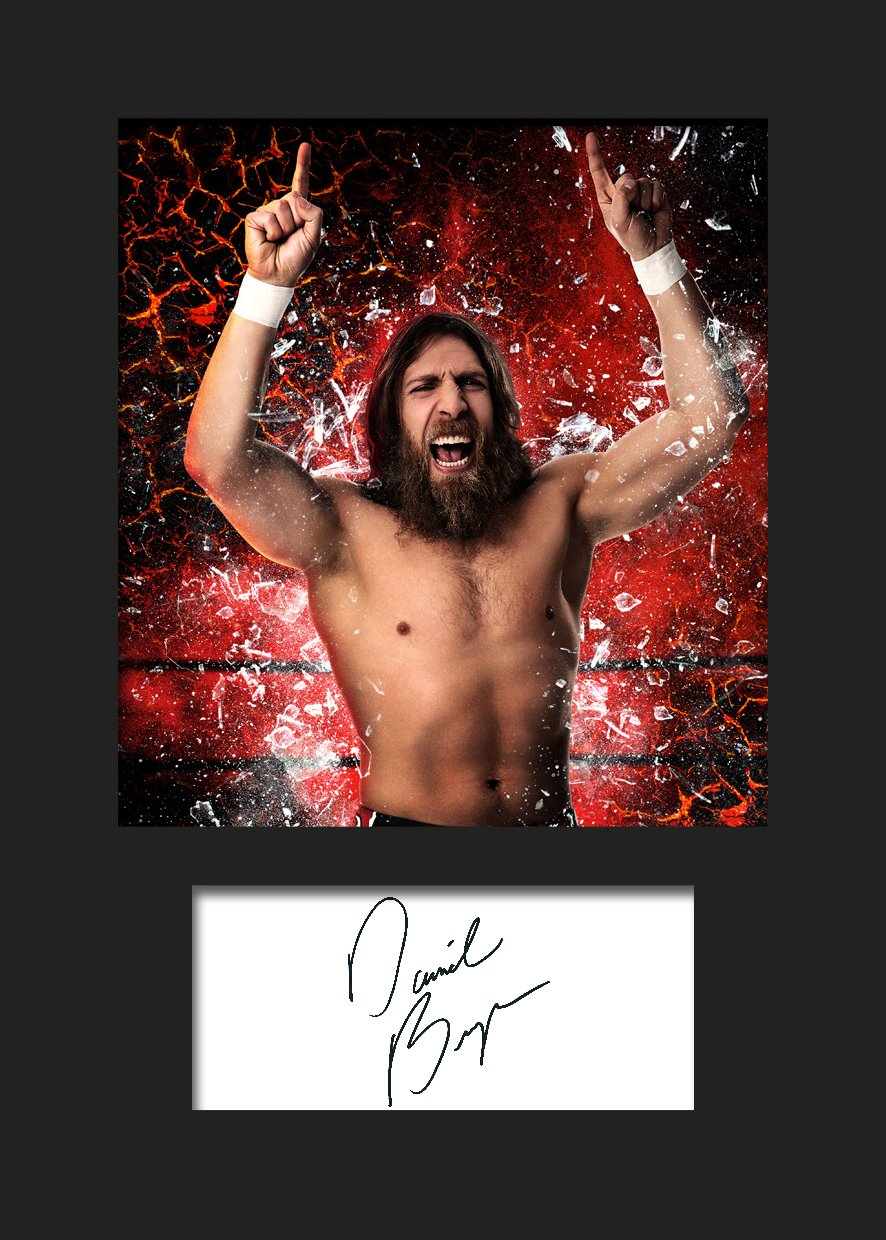 DANIEL BRYAN WWE Signed Mounted Photo A5 Print FRAME SMART
