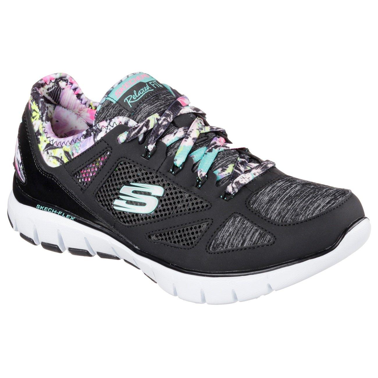 4812492e619 Skechers - Zapatillas Deportivas Modelo Skech Flex Tropical Vibes para Mujer  (37 EU Negro Multi)  Amazon.es  Zapatos y complementos