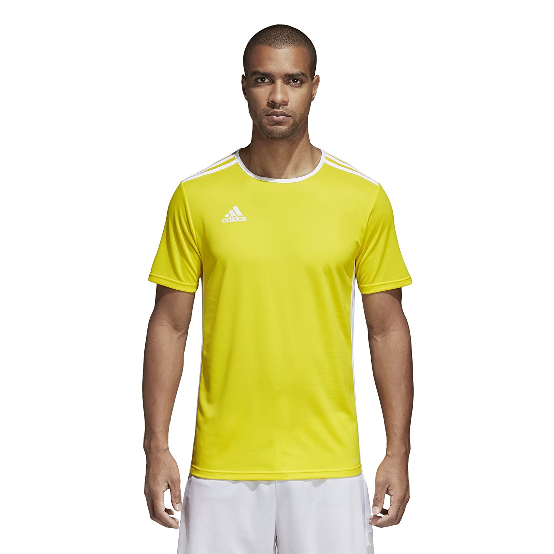 Adidas エントラーダ ジャージー メンズ サッカー 18 B071GWGS5F Large|イエロー/ホワイト イエロー/ホワイト Large
