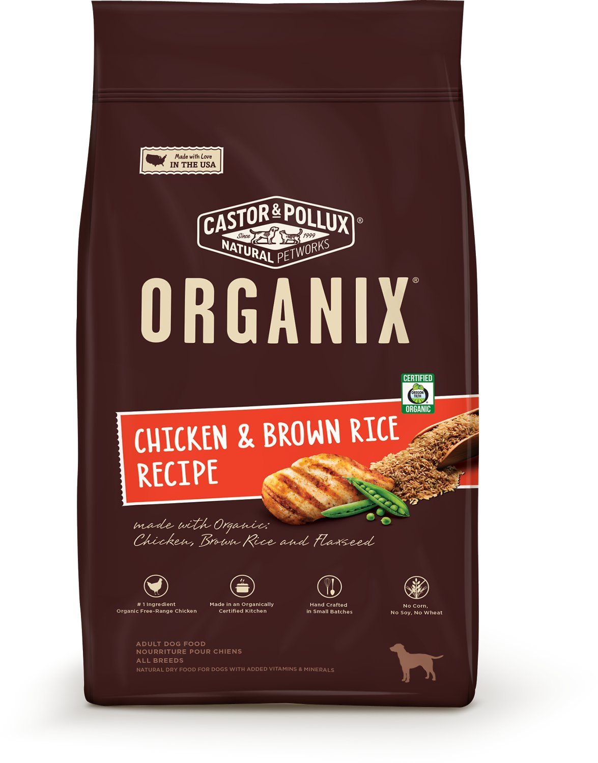 Organix, Adult Dry Dog Food, 25 lb (Package May Vary)