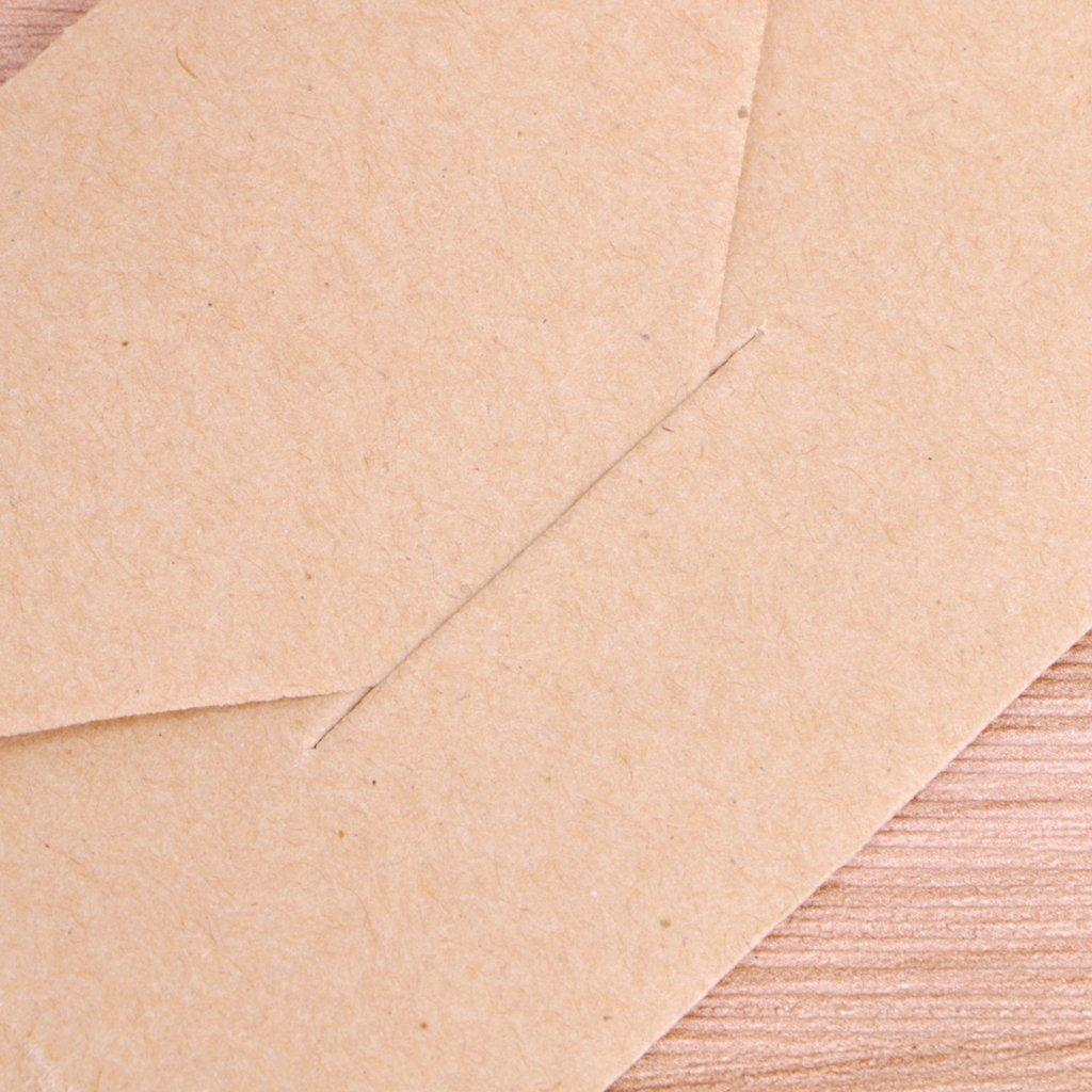 Mentin 50pcs Mini Enveloppes Kraft De Cartes Cadeaux Carte Visite