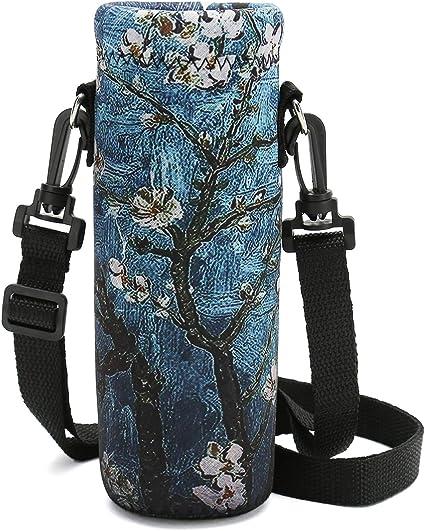 500ml Portable Neoprene Water Bottle Cover Holder Shoulder Strap Case Pouch