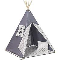 La tente de tipi teepee pour les enfants, cabane, ensemble:4 pieces