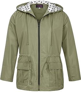 69a9a2eba65 Hanna Nikole Long Rain Jacket Women s Packable Waterproof   Breathable Rain  Coat