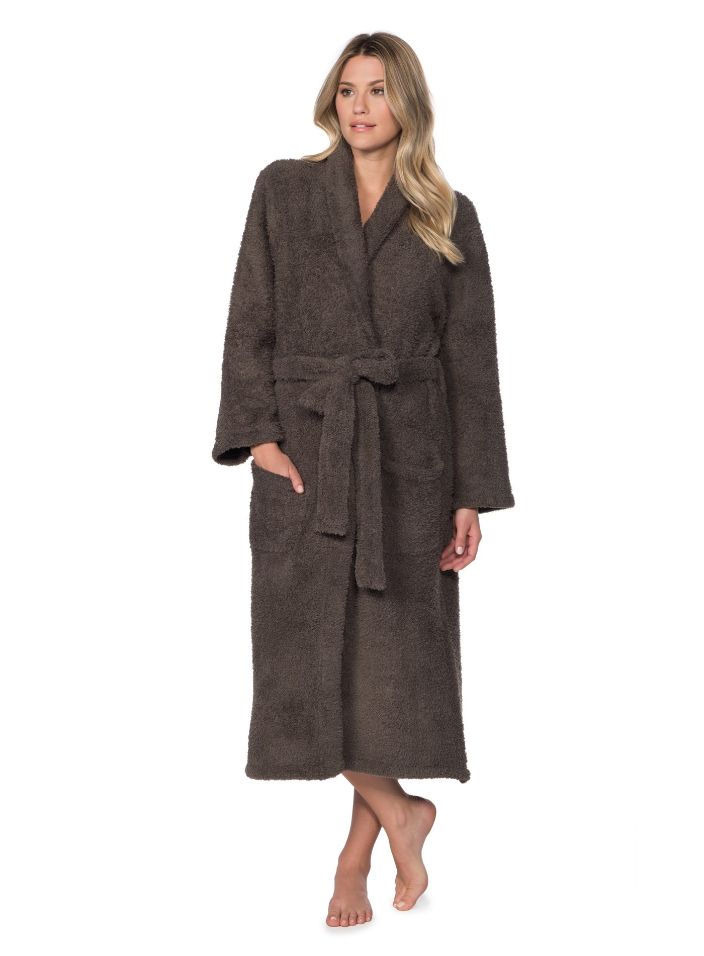 Barefoot Dreams CozyChic Adult Robe (Cocoa, 3)