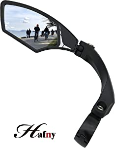Hafny NEW Handlebar Bike Mirror, HD,Blast-resistant, Glass Lens, HF-MR095 (left)
