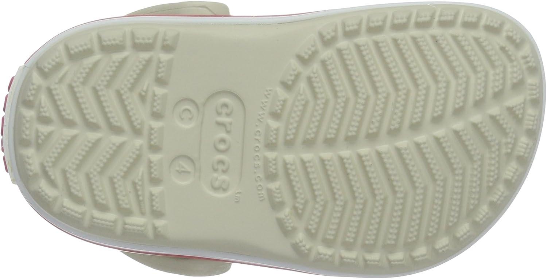 Sabots Mixte Enfant Beige 32//33 EU Stucco//Melon Crocs Crocband Clog Kids