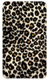 Amped Art 5,000 mAh Ultra Thin Compact External Portable Power Bank and Travel Charger with Built-in Micro USB Charging Cable and Adapter for iPhone, Galaxy, Android - Small Leopard Spots