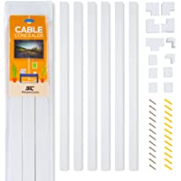Deals on Simple Cord Cable Concealer On-Wall Cord Cover Raceway Kit 150-in