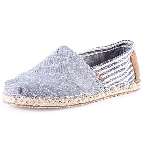 TOMS Chambray Stripe Shoes Blue 9 UK  Amazon.co.uk  Shoes   Bags 6b0951cb7a04