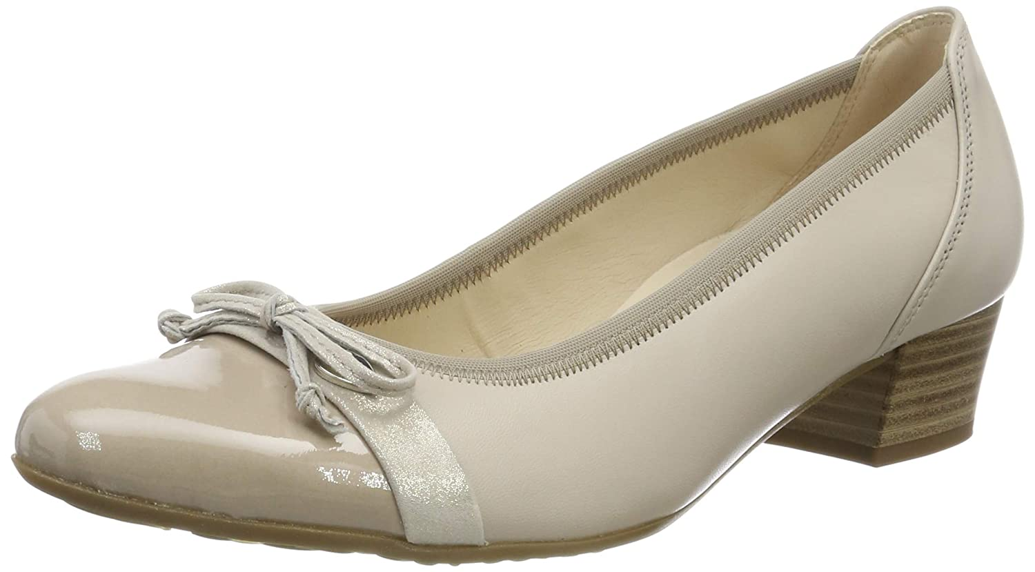 Beige (Ecru Kombi 22) Gabor Damen Comfort Fashion Pumps