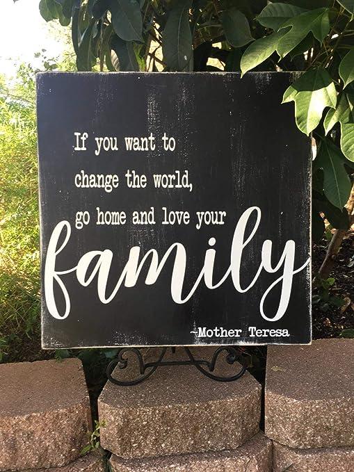 Amazoncom Olga212patrick Mother Teresa Quote Family Wood Plaque