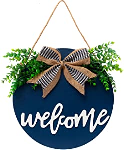 EMISK Welcome Sign for Front Door,Welcome Home Sign,Outdoor Welcome Signs for Porch,Front Door Sign,12