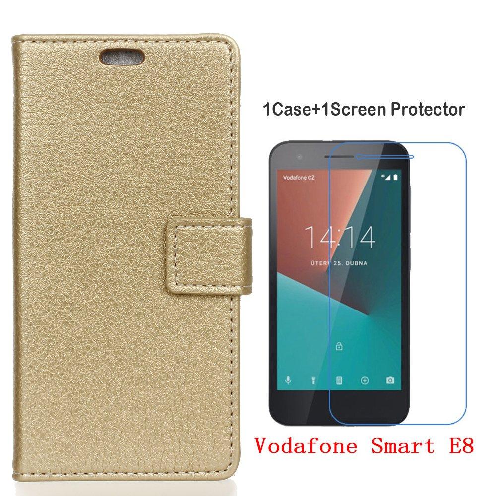 Vodafone Smart E8 Funda+Protector de Pantalla de Cristal ...