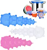 Silicone Stretch Lids, 18 Pack Reusable Silicone Lids, Silicone Bowl Covers,