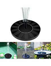 Solar Fountain Pump, Bird Bath Floating Pump Kit 1.4W Free Standing Floating with Different Spay Heads for Garden and Pond, Garden Decorations