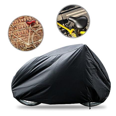 Funda para bicicletas Impermeable - funda de bici resistente contra polvo/ UV sol/ agua - protector ideal para cubrir individual bicicleta motocicleta ...