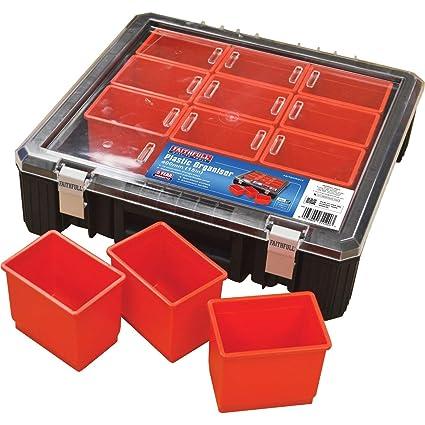 Faithfull herramientas faitborg15 12 de 15 pulgadas Bandeja Organizador de plástico – transparente