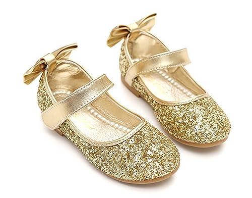 YOGLY Zapatos para Niñas Zapatos Princesa de Lentejuelas Casual Zapatilla  de Baile Sandalias para Niños  Amazon.es  Zapatos y complementos 509ca5f81cdd