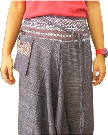 Pantalones Harem de algodón a rayas hippy hippie boho genie Ali Baba Aladdin: Amazon.es: Ropa y accesorios