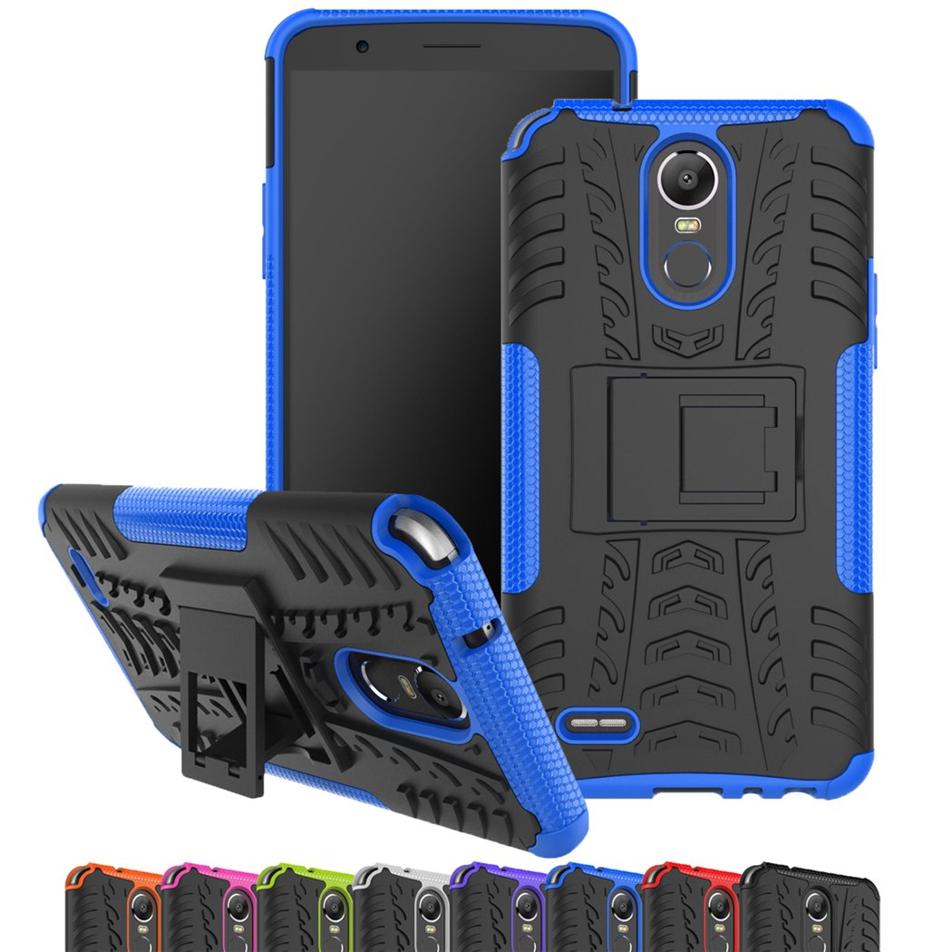 LG Stylo 3 Case, Viodolge [Shockproof] Hybrid Tough Rugged Dual Layer Protective Phone Case Cover with Kickstand for LG G Stylo 3 (blue)