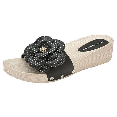 DLP003, Damen Sandalen, Schwarz - Schwarz - Größe: 37 EU Dunlop
