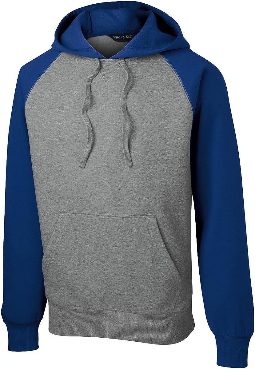 ST267 Sport Tek Raglan Colorblock Pullover Hooded Sweatshirt