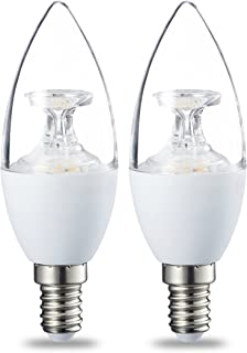 AmazonBasics Bombilla LED E14, 6W (equivalente a 40W), Blanco Cálido, Regulable
