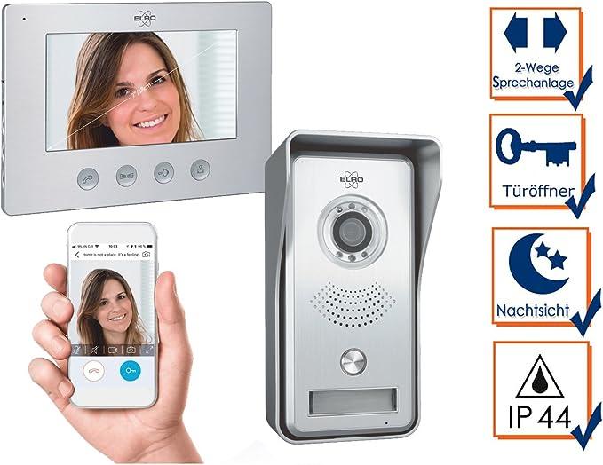 Elro IP Videoportero con 7 pulgadas monitor & Apertura de puerta ...