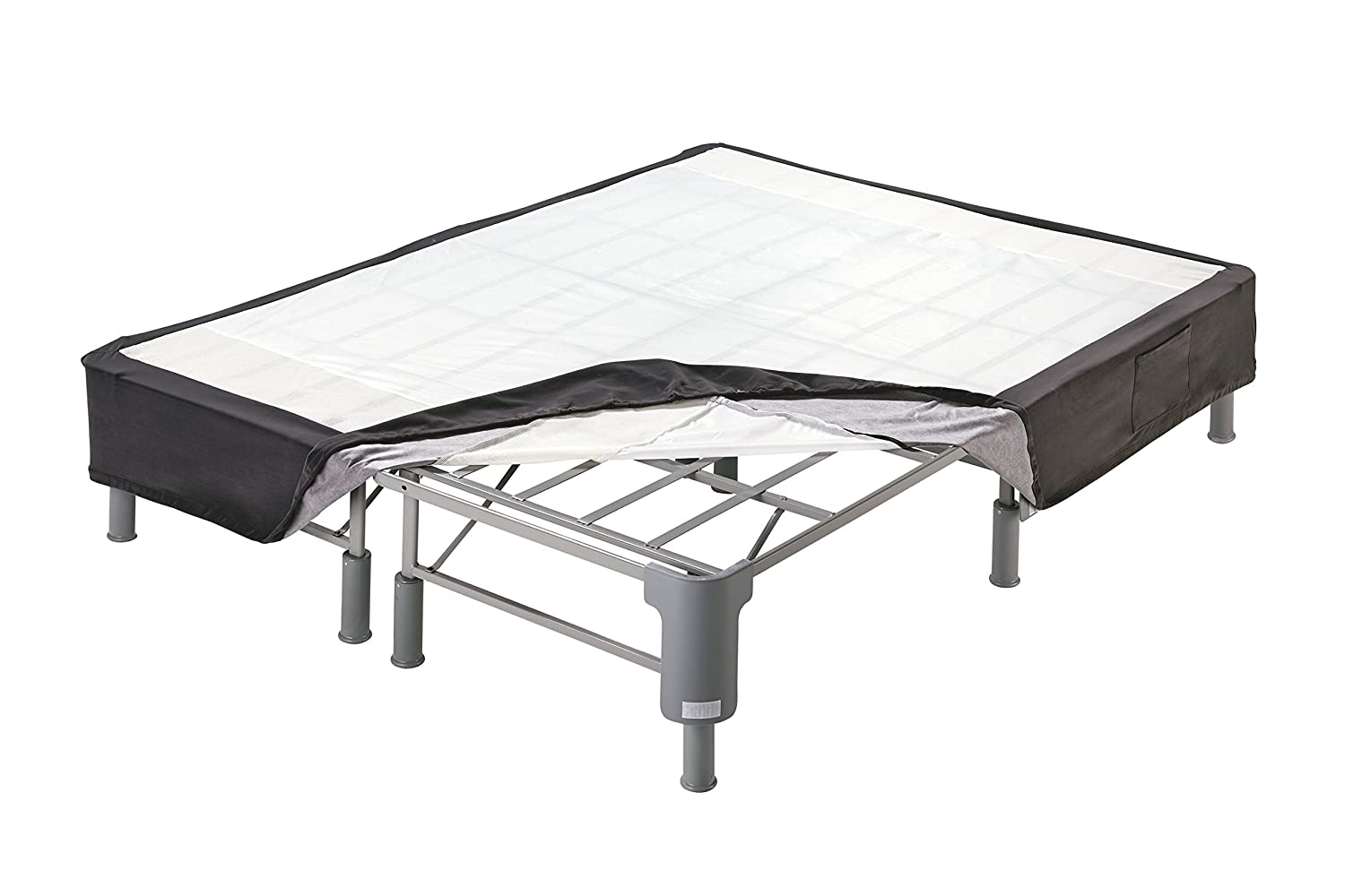 Ashley Furniture Signature Design - Sierra Sleep by Ashley - Perfect Riser - Better than a Box Spring All-in-One Support Foundation - Twin - Dark Gray M86X12