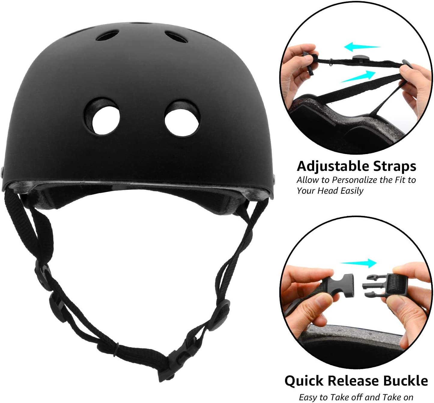 Skating Size Medium Red Scooter Cycling Roller Skate,Skiing FerDIM Skateboard Helmet Adjustable Straps CPSC Certified for Skateboard Kids//Adult Bike Helmet with Removable Liner Skiing