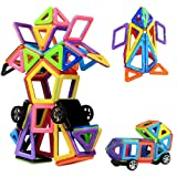 Magnetic Building Blocks | 76 Pieces | Let Your Kid Learn Colors and Shapes through Play | Instruction Booklet and Storage Bag Included | Creative and Educational Gift for Kids…