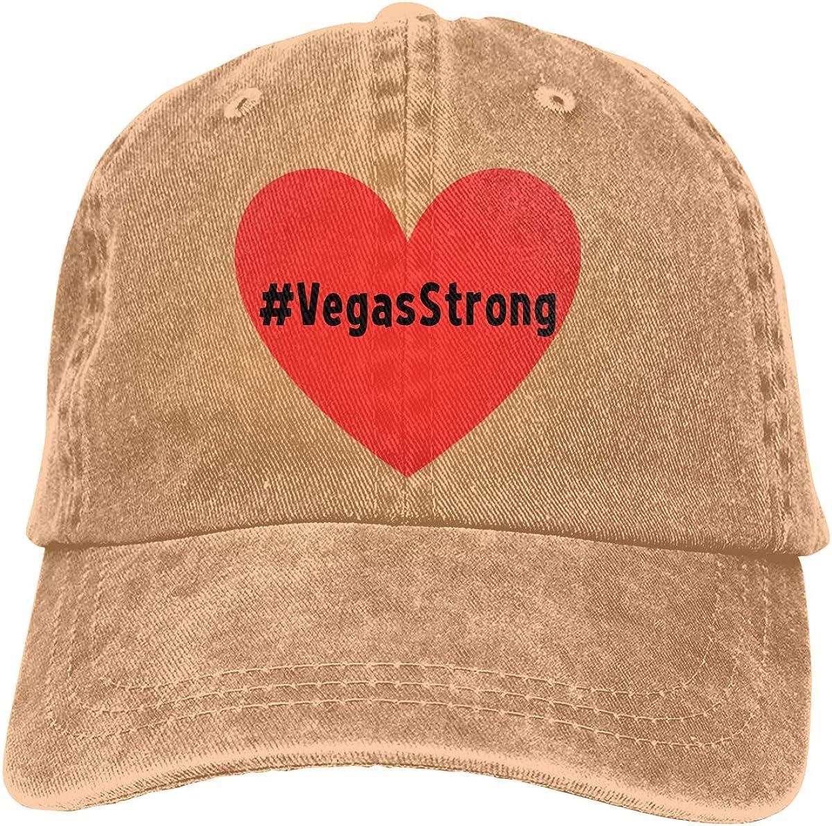 Vegas Strong Decal Unisex Adult Cowboy Hat Sun Hat Adjustable Baseball Cap