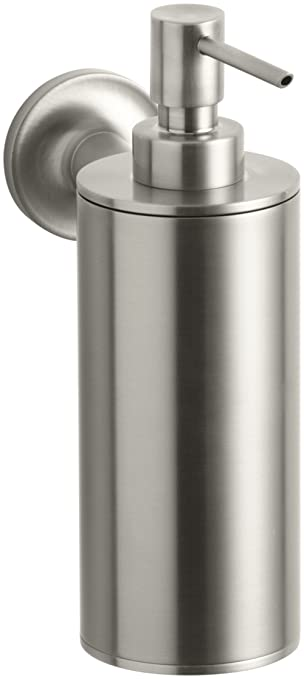 wall mounted stainless steel automatic soap dispenser commercial vintage uk purist vibrant brushed nickel