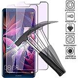 EJBOTH 2 x Huawei Mate 10 Pro Verre Trempé Protecteur D'écran, 2,5 D Lumière Anti-bleue Protection écran Films Protecteurs Pour Huawei Mate 10 Pro - 0,26 MM Ultra-mince avec dureté 9H.