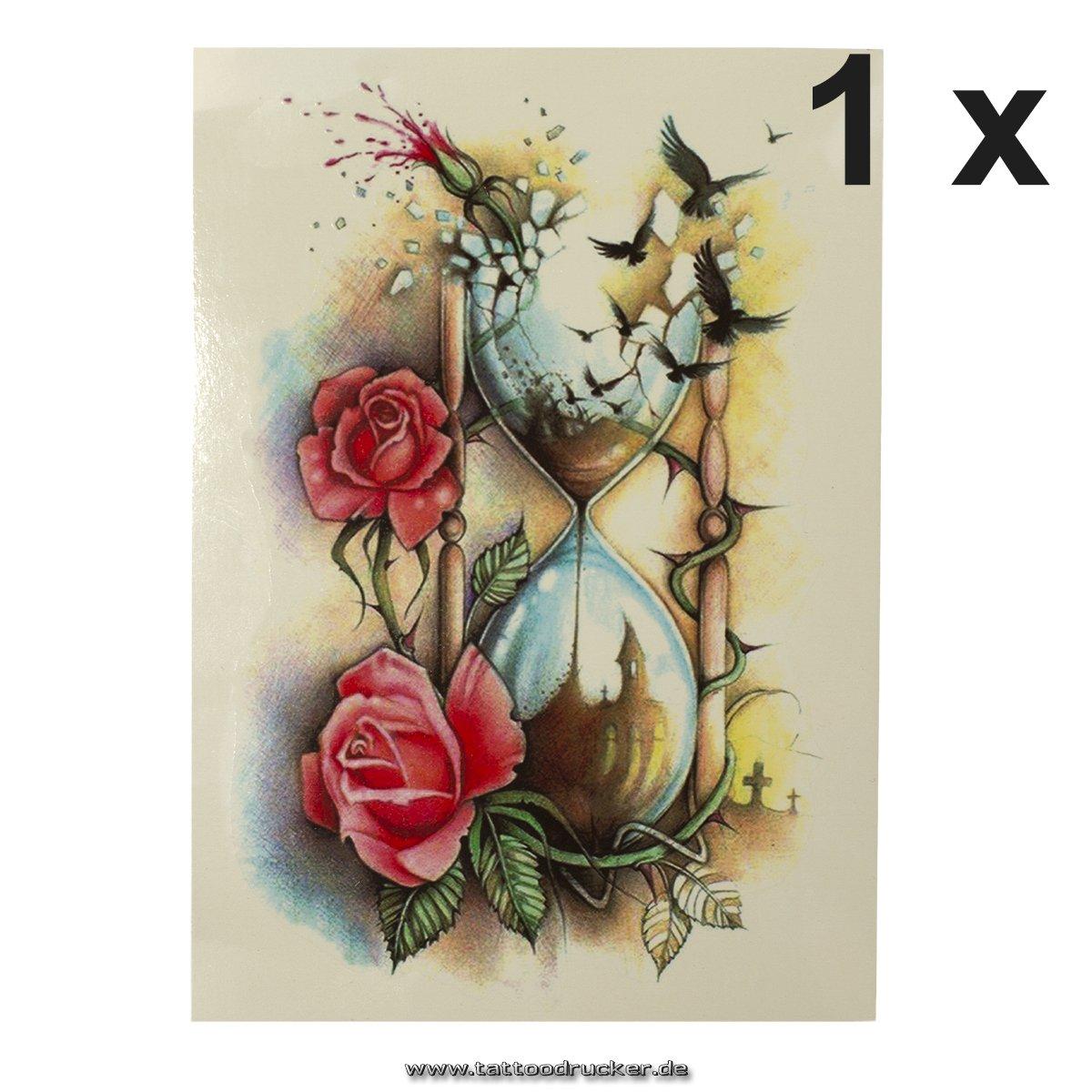 Reloj De Arena + Pájaros + Rose Cuerpo – Adhesivo Pegatina XL ...