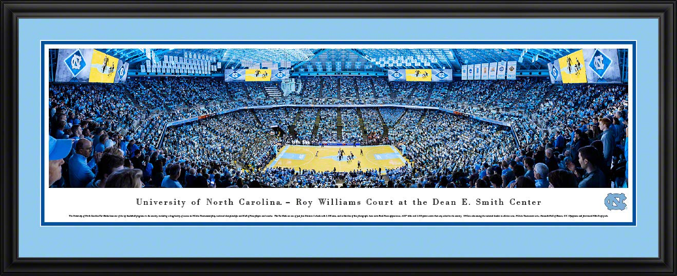 North Carolina Basketball - 44x18-inch Double Mat, Deluxe Framed Picture by Blakeway Panoramas by Blakeway Worldwide Panoramas, Inc.