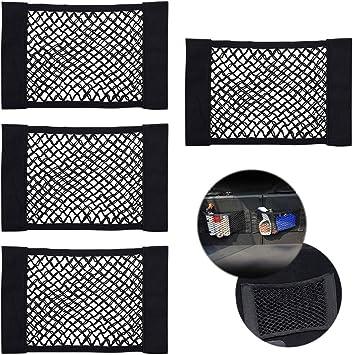 Universal Black Auto Car Seat Side Back Storage Mesh Net Bag Organizer