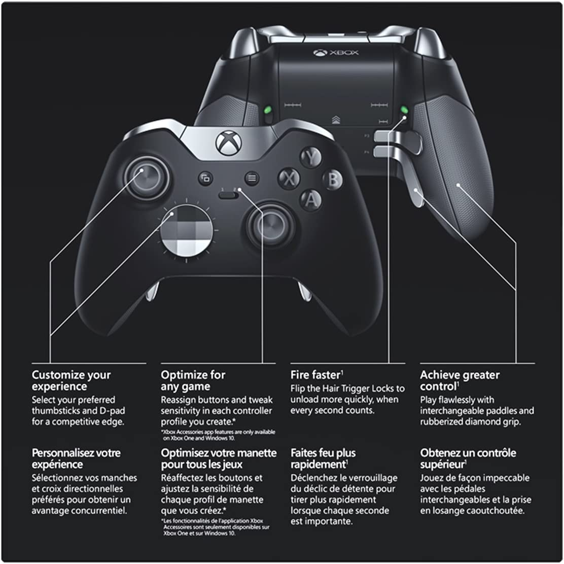 Amazon com: Xbox Elite Wireless Controller: Video Games