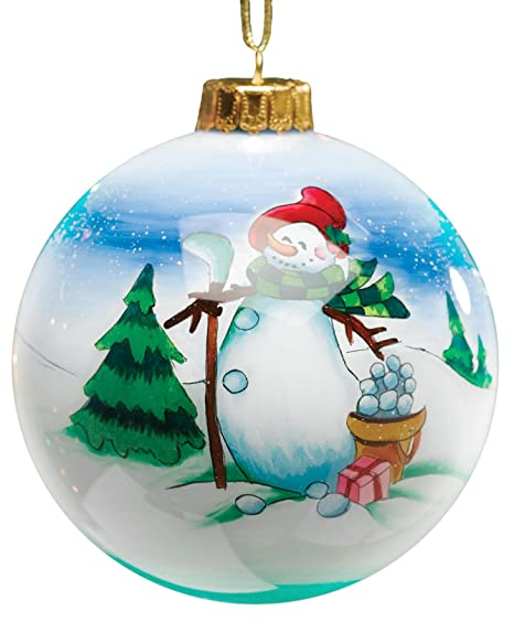 Amazon.com : Golf Gifts & Gallery Clubhouse Collection Glass Snowman ...