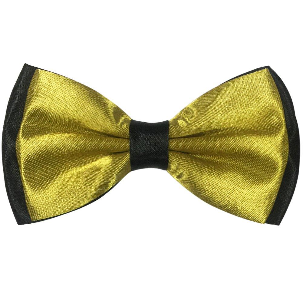 Ainow Mens Fashion Solid Color Tuxedo Pre-tied Adjustable Bow Tie Bowties