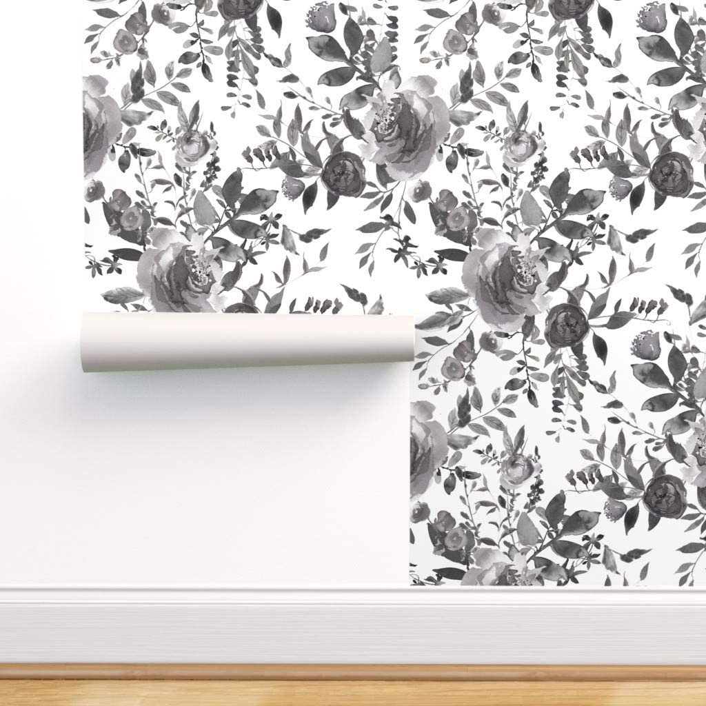 Spoonflower Peel And Stick Removable Wallpaper Black And White